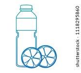 juice fruit bottle with oranges | Shutterstock .eps vector #1118295860
