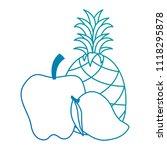 fresh fruits set menu | Shutterstock .eps vector #1118295878