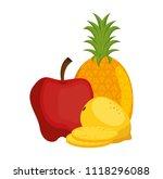 fresh fruits set menu | Shutterstock .eps vector #1118296088
