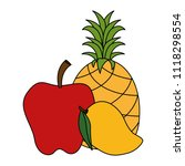 fresh fruits set menu | Shutterstock .eps vector #1118298554