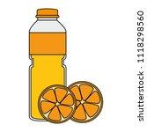 juice fruit bottle with oranges | Shutterstock .eps vector #1118298560