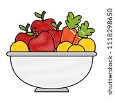 fruits and vegetables in bowl | Shutterstock .eps vector #1118298650