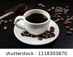 still life with white cup with... | Shutterstock . vector #1118303870