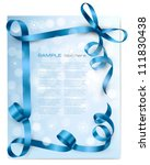 christmas background with blue... | Shutterstock .eps vector #111830438