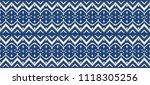ikat seamless pattern. vector...   Shutterstock .eps vector #1118305256