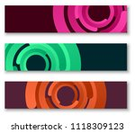 three colorful banners with... | Shutterstock .eps vector #1118309123