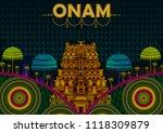 happy onam festival greetings...   Shutterstock .eps vector #1118309879