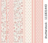 pink floral seamless pattern in ... | Shutterstock . vector #111831443