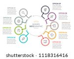 business infographic design... | Shutterstock .eps vector #1118316416