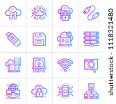gradient outline icons set of... | Shutterstock .eps vector #1118321480