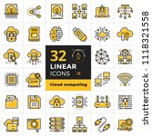 linear icon set of cloud... | Shutterstock .eps vector #1118321558