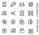 outline icons set of cloud... | Shutterstock .eps vector #1118321564