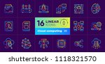 gradient outline icons set of... | Shutterstock .eps vector #1118321570