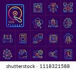 gradient outline icons set of... | Shutterstock .eps vector #1118321588
