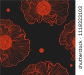 floral seamless pattern of...   Shutterstock .eps vector #1118323103