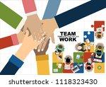 flat design illustration... | Shutterstock .eps vector #1118323430