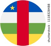 circular flag of central african   Shutterstock .eps vector #1118328488