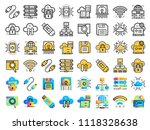 icons set of cloud computing ... | Shutterstock .eps vector #1118328638