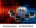 3d rendering computer network | Shutterstock . vector #1118329064