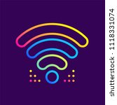 outline gradient icons wi fi... | Shutterstock .eps vector #1118331074