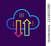 outline gradient icons data... | Shutterstock .eps vector #1118331080