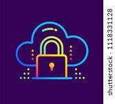 outline gradient icons data... | Shutterstock .eps vector #1118331128