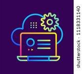 outline gradient icons cloud... | Shutterstock .eps vector #1118331140
