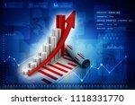 3d rendering stock market... | Shutterstock . vector #1118331770