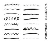 hand drawn doodle line for... | Shutterstock .eps vector #1118332976