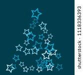 colorful stars confetti ... | Shutterstock .eps vector #1118336393