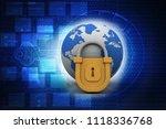 3d rendering world protection... | Shutterstock . vector #1118336768