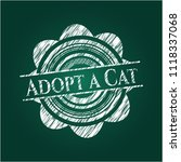adopt a cat with chalkboard... | Shutterstock .eps vector #1118337068