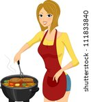 illustration of a woman... | Shutterstock .eps vector #111833840