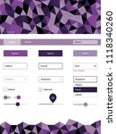 light purple vector style guide ...