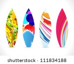 abstract colorful surf board...   Shutterstock .eps vector #111834188