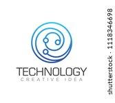 technology logo vector | Shutterstock .eps vector #1118346698