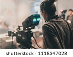 behind the scene. multiple... | Shutterstock . vector #1118347028