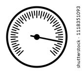 round barometer or speed gauge... | Shutterstock .eps vector #1118351093