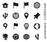 set of simple vector isolated... | Shutterstock .eps vector #1118351168