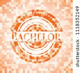 bachelor abstract orange mosaic ... | Shutterstock .eps vector #1118352149