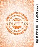 adoption abstract orange mosaic ... | Shutterstock .eps vector #1118352224