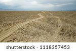 Aerial View Of Dirt Biking On ...