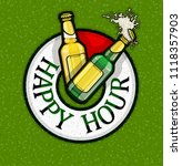 happy hour with free beer in... | Shutterstock .eps vector #1118357903