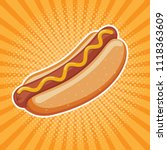 hot dog delicious fast food... | Shutterstock .eps vector #1118363609