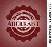 aberrant realistic red emblem | Shutterstock .eps vector #1118364146