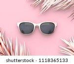 pink scene abstract sunglasses... | Shutterstock . vector #1118365133
