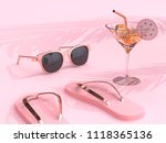 summer concept abstract pink... | Shutterstock . vector #1118365136