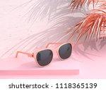 3d rendering pink scene... | Shutterstock . vector #1118365139