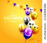 halloween party template with... | Shutterstock .eps vector #1118368286