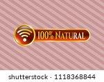 golden emblem with wifi signal ... | Shutterstock .eps vector #1118368844